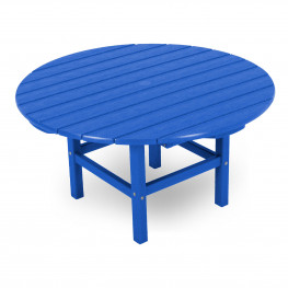 POLYWOOD® Round 38 Inch Conversation Table in pacific blue