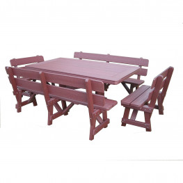 Recycled Poly Lumber Border Table Dining Set