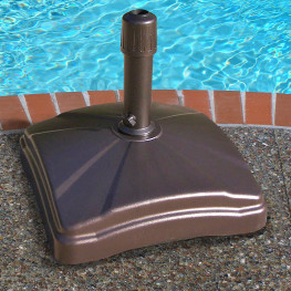 Shademobile Rolling Umbrella Base with Locking Wheels in Bronze Finish