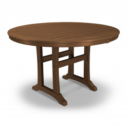 POLYWOOD® Nautical Trestle 48in Round Dining Table