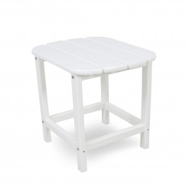 POLYWOOD South Beach 18 In Side Table in white