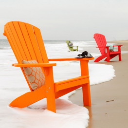 Amish Poly SeaAira Adirondack Chair