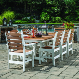 Sister Bay Maywood 9 pc Extension Table Dining Set