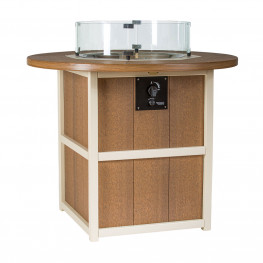 Finch Amish Poly 48 in Summerside Round Fire Counter Table