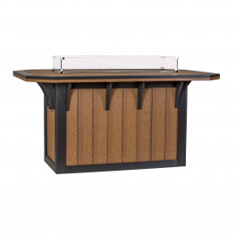 Amish Poly 46 x 72 SummerSide Fire Counter Table