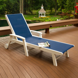 POLYWOOD® Coastal Chaise with Wheels