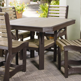 CR Plastics St Tropez 45in Square Dining Table