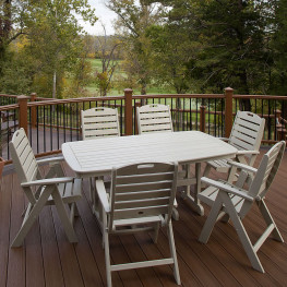 Trex® Outdoor Furniture Yacht Club 37 in x 72 in Dining Table