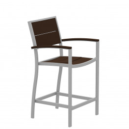 Trex® Outdoor Furniture Surf City Counter Arm Chair