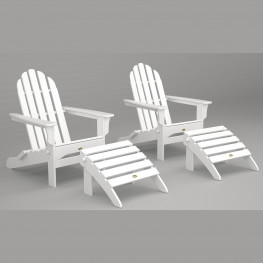 Trex® Outdoor Furniture Cape Cod Folding Adirondack Chair and Ottoman Seating Set