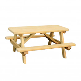 Amish Poly Child's Table with Benches Attached