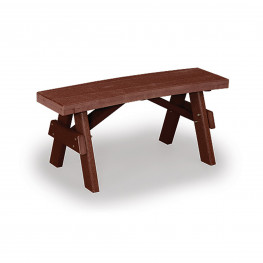 Amish Poly Wood 40in Curved Garden Bench