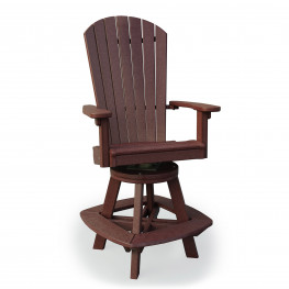 Amish Poly Great Bay Swivel Bar Chair