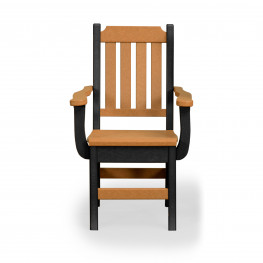 Amish Poly Keystone Dining Chair w/arms