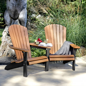 Amish Poly Fan-Back Adirondack Settee