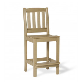 Amish Poly English Garden Bar Height Side Chair