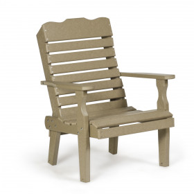 Amish Poly Single Curve Back Chair