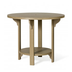 Amish Poly Round 48 in Bar Height Table