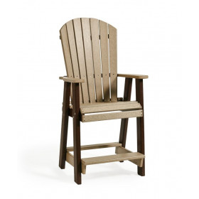 Amish Poly Counter Height Balcony Chair