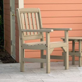 Amish Poly English Garden Dining Arm Chair