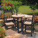 Table and Chairs sold separately - shown in black Frame with Cedar Slats