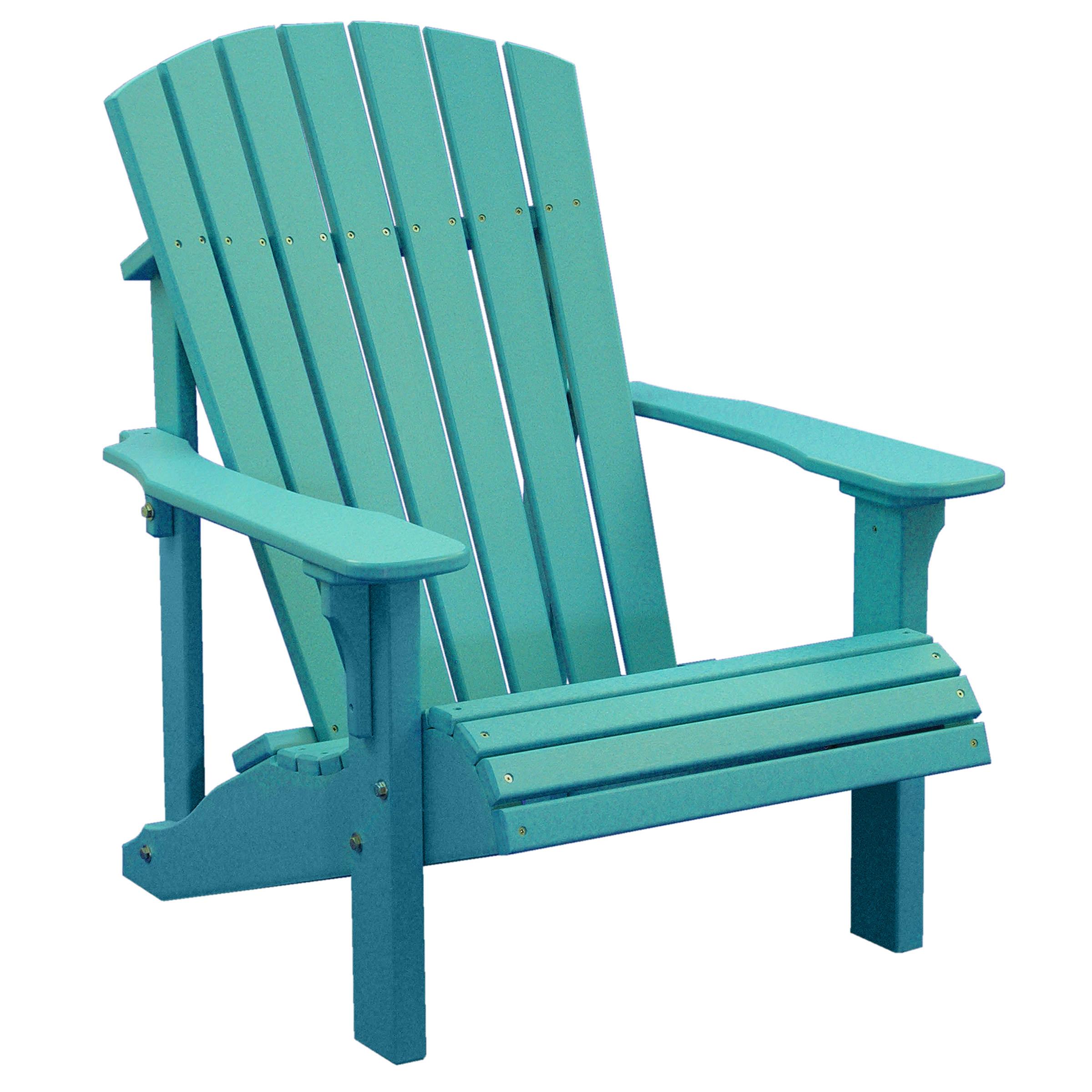Luxcraft Crestville Deluxe Adirondack Chair in Solid Tropical